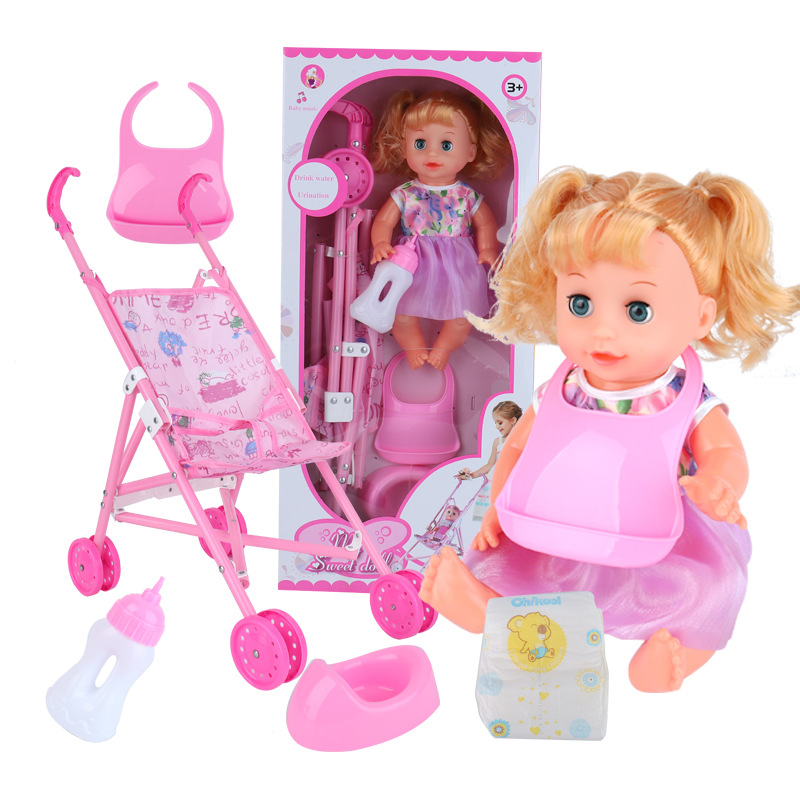 6-in-1 luxury Nursery Play set with Stroller , bottle, bedpan ,Diapers and bib (<strong>Doll</strong> Included) baby <strong>dolls</strong> sets reborn <strong>doll</strong> kits