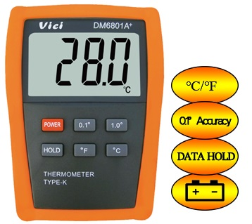 DM6801A+ Digital Temperature Indicator Meter