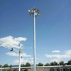 20m 30m 40m lifting system hot dip galvanized octagonal tube high mast lamp pole 10 pieces of sodium floodlights