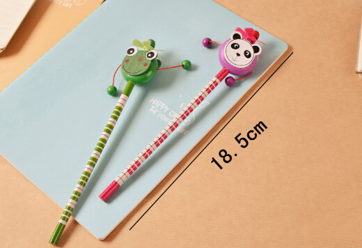 Animal Colorful And Cute Fan Rattle Custom Topper Pencil