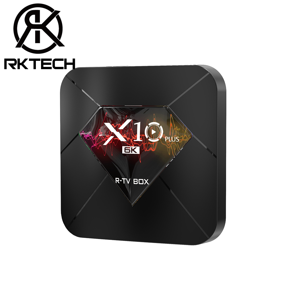 RK Direct Sales Android TV Box <strong>X10</strong> Plus Allwinner H6 4GB RAM 64GB ROM 100M LAN Android 9.0 6K H.265