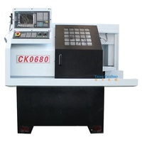 Small CNC Lathe CK0680 With Bar Feeder