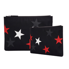2020 Blu Flut Wholesale designer men and <strong>women</strong> small MOQ microfiber custom logo clutch bags with printing pattern factory price