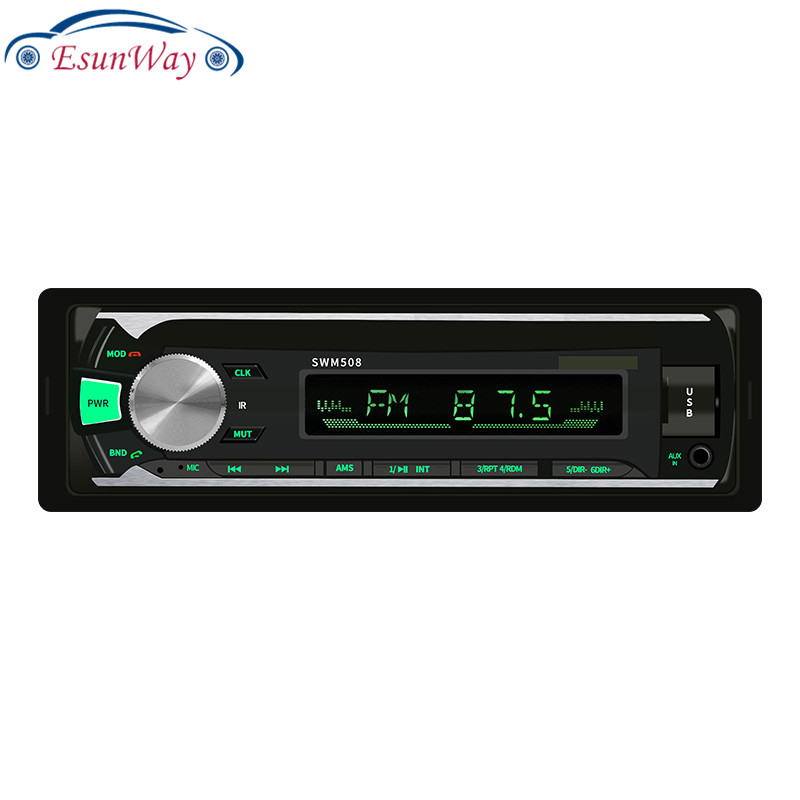 EsunWay 508 Bluetooth Car Stereo <strong>MP3</strong> Player USB Audio Copy FM Radio Head Unit Receiver Read Cards and U Disks Audio AUX Function