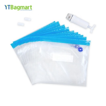 High Quality Vacuum Storage Bags Sealer Plastic Reusable Hand Pump Vacuum Sous Vide Bags