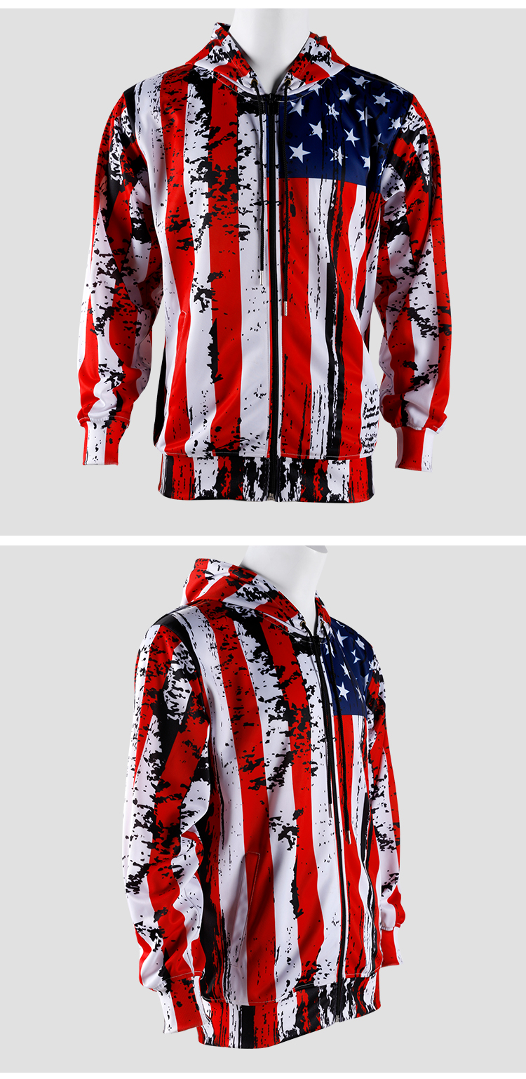 Custom Sublimation Printed Pullover Polyester Mens Hoodies Sweatshirts