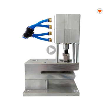 semi automatic n95 face mask respiration air exhalation breathing valve hole punching machine
