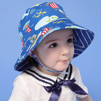 New Design Cartoon Baby Summer Sun Hat Baby Bucket Hat