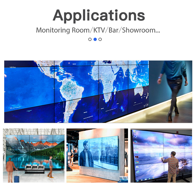 Indoor led Display HD Digital Video Wall 4k Advertising LCD Screen Video Wall 55 Inch