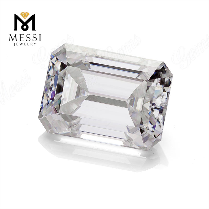 Messi jewelry loose moissanite emerald <strong>cut</strong> 4x2-13.5x10.5mm gemstones GH color moissanite