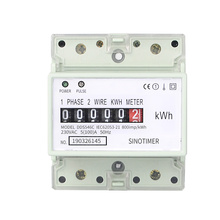 Factory Price 5(100)A 230VAC 50/60Hz Single Phase Energy Counter <strong>Meter</strong> Analog Electric Wattmeter Household Electric Din Rail