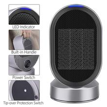 Portable Ceramic Space <strong>Heater</strong> for Home and Office Indoor Use with Adjustable Thermostat Overheat Protection and Carrying Handle