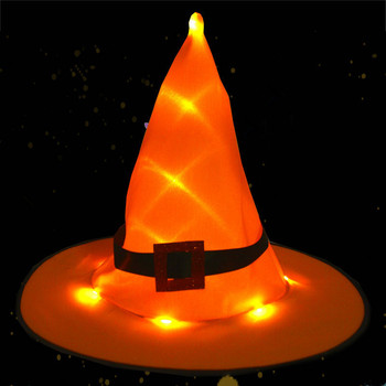 hanging light halloween hat decoration lighted glowing led witch hats