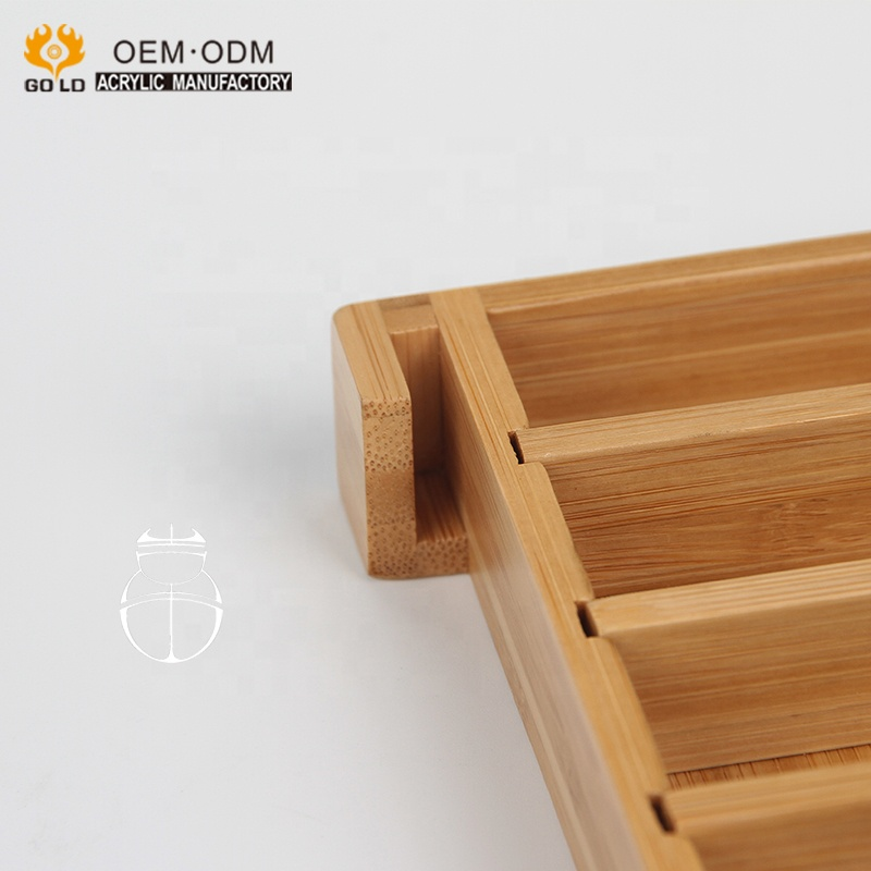 factory bamboo wood display stand essential oil holder organizer