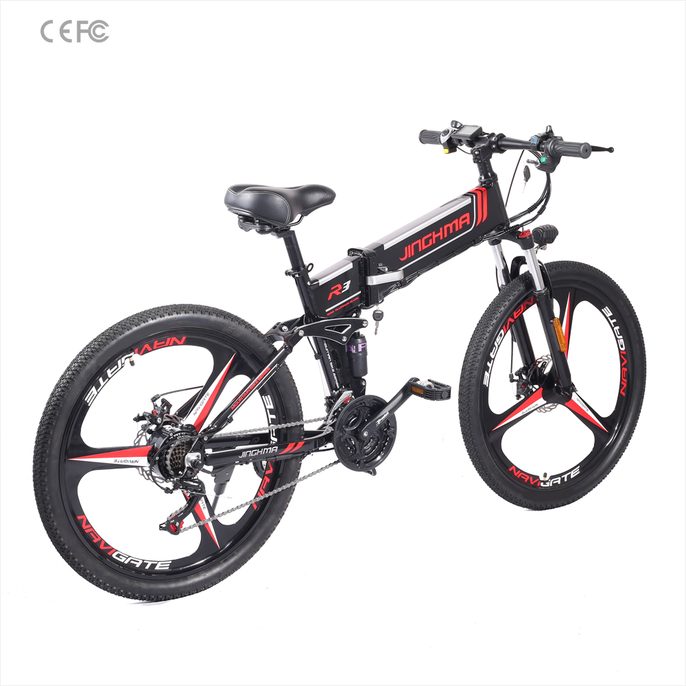 Electric mountain bike folding ebike fat tire bicycle 35KM/<strong>h</strong> electric fat tire bike 48V350W folding electric bicycle