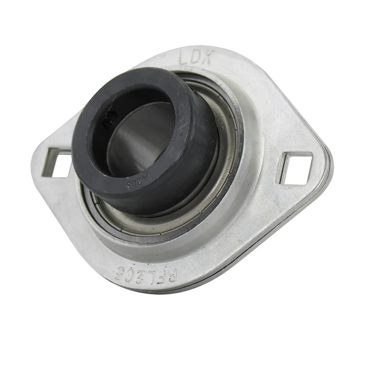 "SAPFL206-18 High Quality 1-1//8/"" Eccentric Pressed Steel 2-Bolt Flange Bearing"