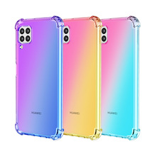 Shockproof 1.5MM Four Corner Tpu Gradient <strong>Phone</strong> Case For Huawei Nova 6 se Back Cover