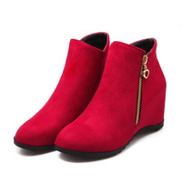 sh10334a New autumn boots shoes ladies winter ankle boots with zip