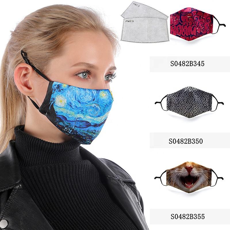 NOVELA Face Cover de Cubierta Lavable y Reutilizable con Diamantes de imitaci/ón Impresos a la Moda