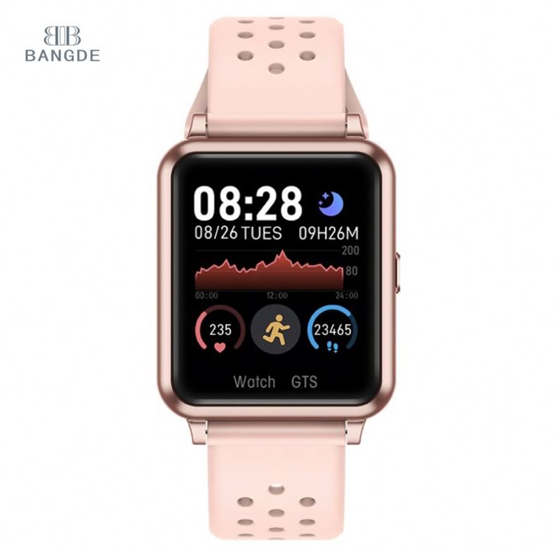 Senior Big Touch Screen Hiking Android Smartwatch Sleep Heath Monitoring Long Battery Pink Custom Digital Men Smart Watch