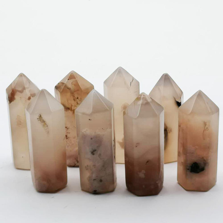 Wholesale Beautiful Natural Agate Crystal Wand For Home Decoration