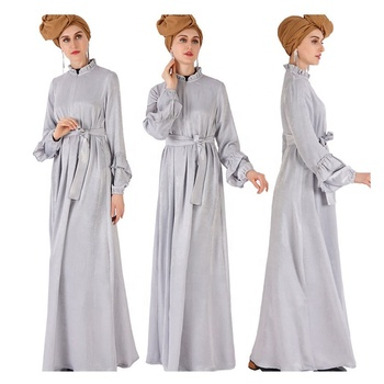 Abaya Designs In Pakistan Factory Direct Sale Muslim Dress Abaya Frock Islamic Robe Plain Colour