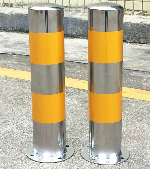 Hot sale stainless steel warning tape parking guide bollard post for security