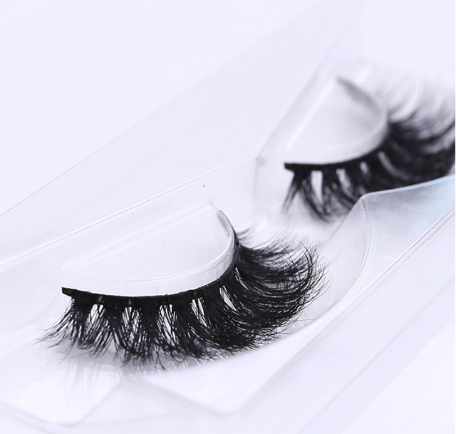 Hand made bushy cross 16mm 3D real lashes | <strong>D110</strong> mink eyelashes