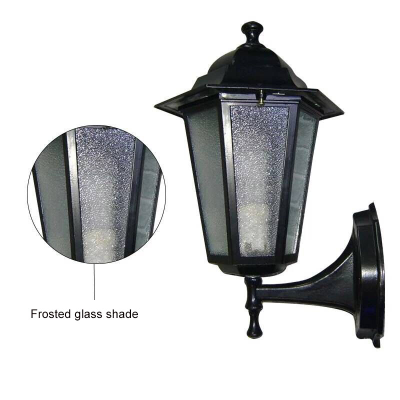 Factory direct European retro outdoor waterproof straight hexagon street wall lamp