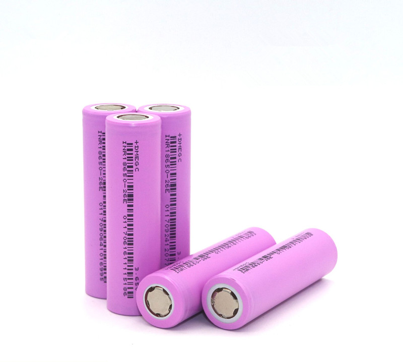2020 Hot Selling DMEGC INR18650-26E 2600mAh 3C <strong>1000</strong> Cycles 3.6V Electric Bicycle Li-Ion 18650 Battery