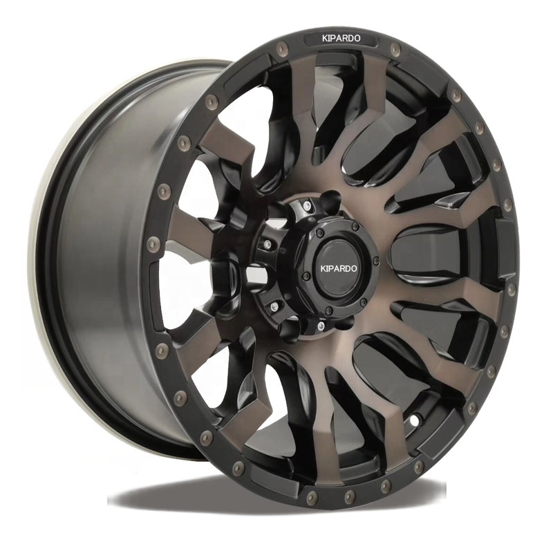 Kipardo RTS 17x9 SUV 4x4 alloy car mag <strong>wheels</strong> with pcd 6x139.7 6x114.3 5x150 velg offroad <strong>wheels</strong>