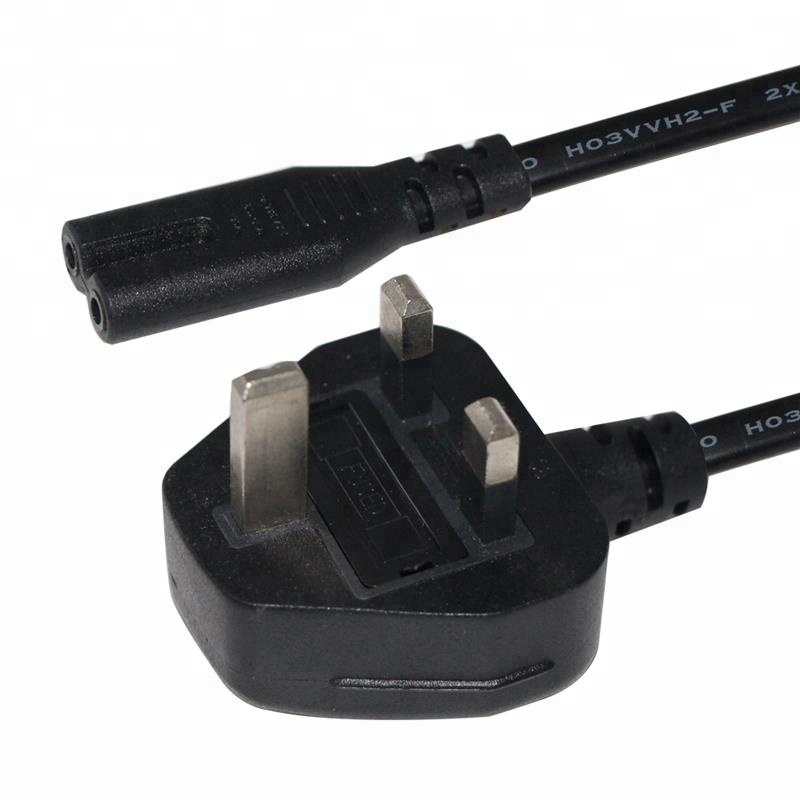 1m 2m 3m UK 3pin Plug to IEC C7 Figure 8 Cord AC Power Cable
