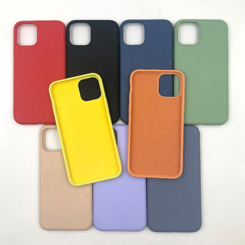 For iPhone Apple Silicone <strong>Case</strong> With Customized Logo Liquid Silicone Cover Fiber Inside Silicon Back Cover for iPhone 11 XS MAX
