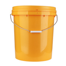 Cheap bucket plastic <strong>flat</strong> back with metal handle