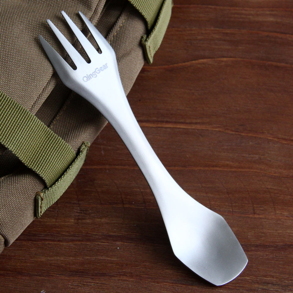 3-in-1 Titanium Spoon Fork Knife Outdoor Camping Spork Ultralight Picnic Cutlery Travel Utensils for Picnic Travel Home Use