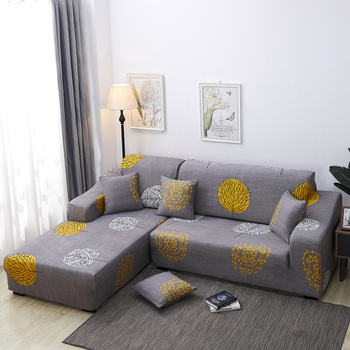 YRYIE Chinese Manufacture Customized Modern Floral L Shape Sofa Cover Fabric
