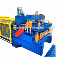 Used metal roof panel roll forming machine/building material machinery /portable roll forming machine
