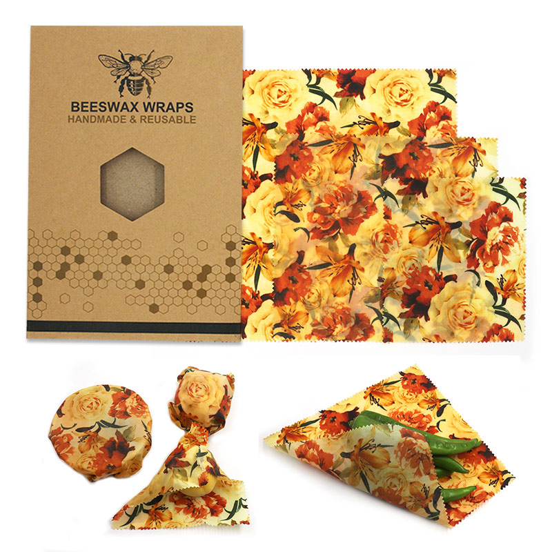 FDA Certified 3 in 1Custom Made Organic Cotton Fabric Beeswax Food Wrapping <strong>Paper</strong>