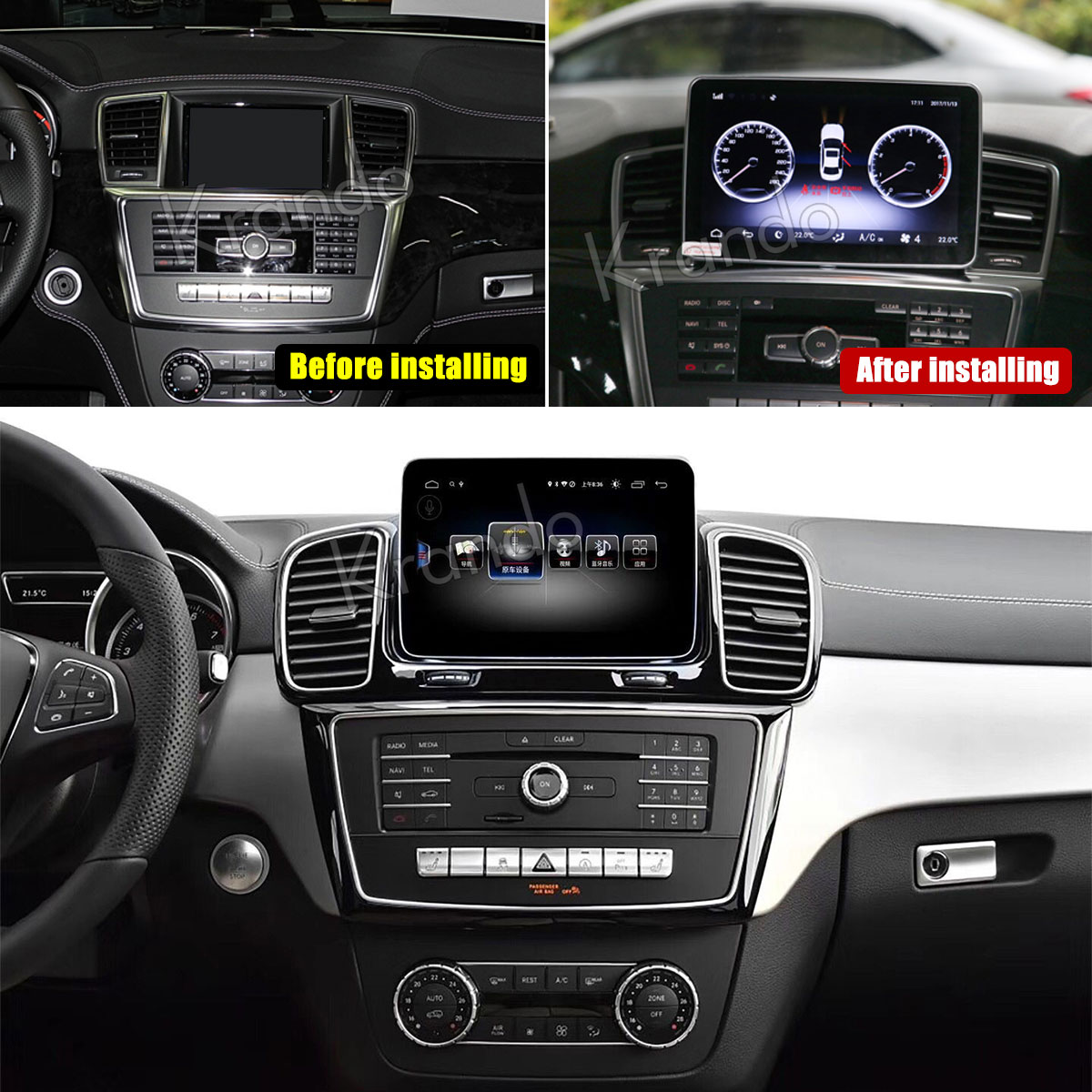 Krando Android 8.1 4G RAM 64G ROM 8 CORE 8.4'' With 4G SIM NTG 4.5 for mercedes for benz ml <strong>w164</strong> car <strong>dvd</strong> gps 2012-2015
