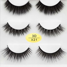Reusable 3D Faux Mink Lashes Soft Handmade False Eyelashes Set for Natural Look With Easy to Apply