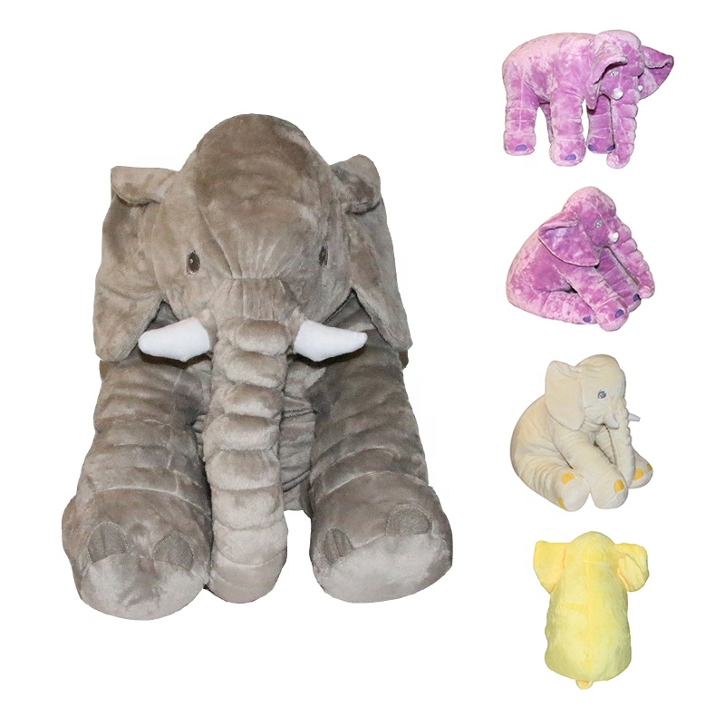 2020 Hot Sale Stuffed <strong>Plush</strong> Toys Soft Pillow Big Ears Giant Baby 70Cm Christmas Elephant Toy
