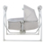 2020 baby crib with  Multi function OEM cheap foldable and  portable electric baby cribs