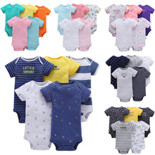 Wholesale OEM 100% Organic Cotton Baby Rompers Boy and Girl Jumpsuit New Boutique Jumpsuit Onesie