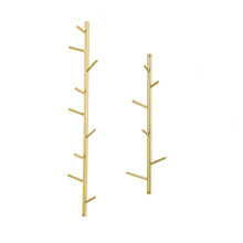 Nordic Minimalist Creative <strong>Wall</strong> Tree Coat Rack Gold Metal Shop Home <strong>Decor</strong>