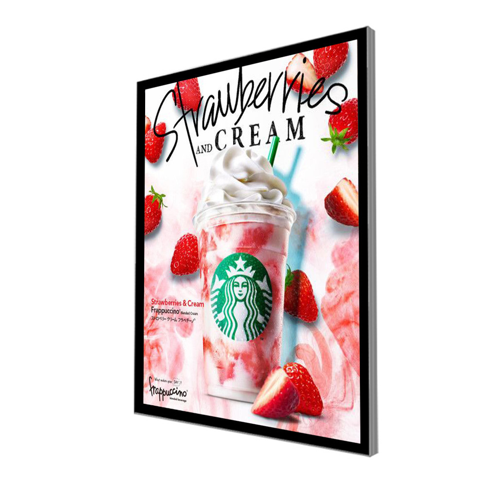 Coffee Shop <strong>Advertising</strong> A1 Light Box Display Aluminum Frame Slim Magnetic Light Box