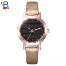 OEM simple quartz luxury wristwatches women with leather strap manufacturers
