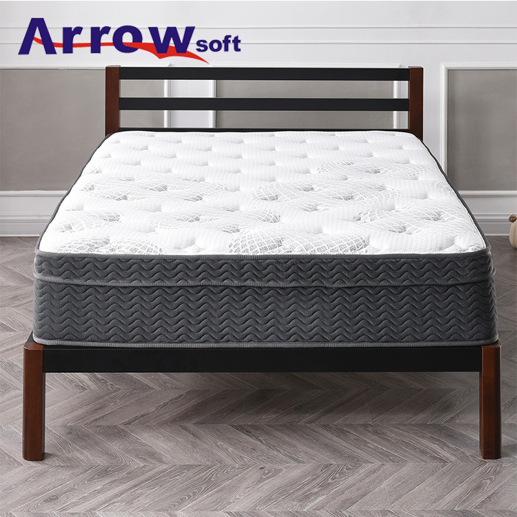 Custom Queen King Size Soft Knitted Fabric <strong>Spring</strong> Memory Foam Latex Mattress Pad