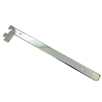 Hanging chrome shelf channel slotted brackets for holding safty lifting hook metal