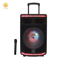 Portable wireless sound system rechargeable buil-in battery outdoor bass dj speaker