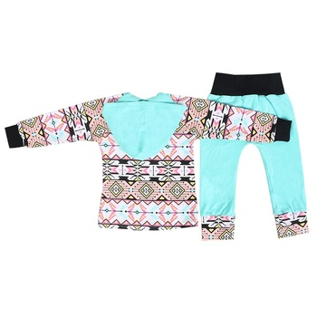 Wholesale sports style long sleeve clothing children sets baby girl clothes